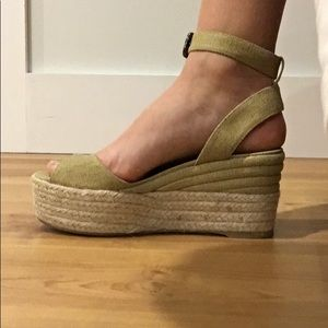 Castañera wedges bought from Calypso St Barth
